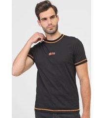 camiseta john john alexis preta/laranja - preto - masculino - algodã£o - dafiti