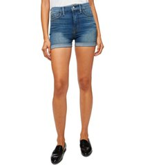 jen7 rolled-cuff denim shorts
