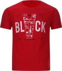 camiseta hombre black color rojo, talla s