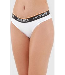 calcinha calvin klein underwear biquãni logo branca - branco - feminino - algodã£o - dafiti