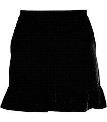 ruffle-trim shorts