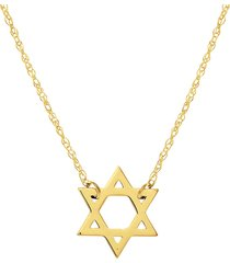 saks fifth avenue women's so you 14k yellow gold star of david pendant necklace