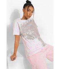 geborduurd tie dye limited edition t-shirt, charcoal