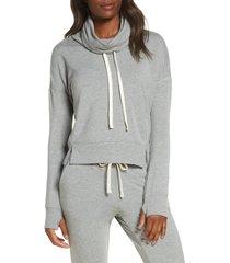 women's ugg miya funnel neck sweatshirt, size x-small - grey