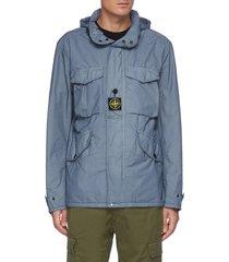 'naslan light watro' stand collar field jacket