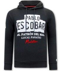 sweater local fanatic hoodie print pablo escobar