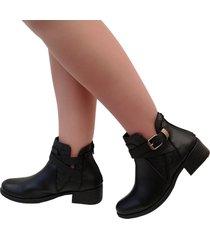 botines tacón 3 y medio para mujer outfit isis negro