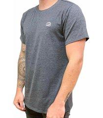camiseta básica small logo gris oscuro fist hombre