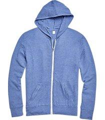 alternative apparel full zip eco jersey hoodie light blue