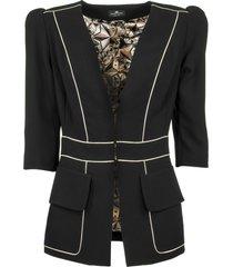 elisabetta franchi celyn b. jacket with v-neck