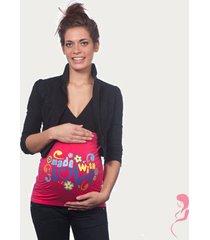 op en top zwanger zwangerschaps buikband made with love roze