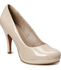woms court shoe shoes heels pumps classic creme tamaris