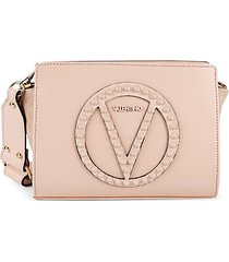 kiki rock studded leather crossbody bag