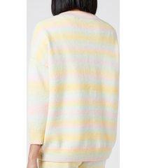 olivia rubin women's cecily cardigan - pastel ombre - l