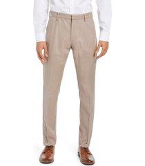 men's nordstrom men's shop non-iron athletic fit textured pants, size 36 x 34 - brown