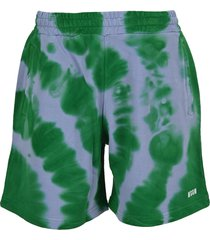 msgm tie-dye sweat bermuda shorts