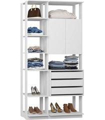 closet guarda roupa armário gavetas branco lilies móveis