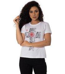 camiseta o alvo thiago brado 6027000003 branco - branco - pp - feminino