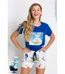 pijama manga curta acuo pijama manga curta branco - branco - feminino - dafiti