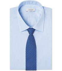 cravatta su misura, lanieri, perugia seta blu scuro, quattro stagioni | lanieri