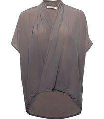 javana blouses short-sleeved grijs rabens sal r