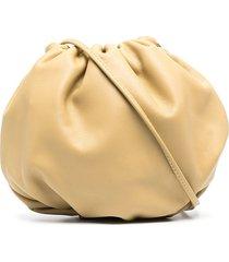 bottega veneta gathered-detail pouch shoulder bag - neutrals