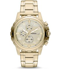 relógio cronógrafo fossil masculino - fs4867/4xn dourado