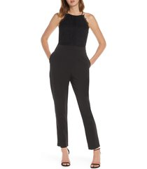 women's adelyn raw alessia lace mix sleeveless jumpsuit