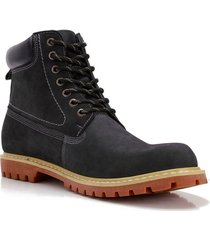 botin nobuck march azul oscuro hush puppies