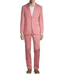 2-piece slim fit stretch cotton suit