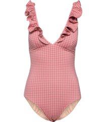 rita swimsuit baddräkt badkläder rosa underprotection