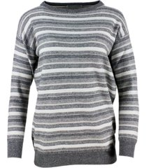 fabiana filippi long-sleeved crew-neck striped sweater with lurex in cashmere wool and silk