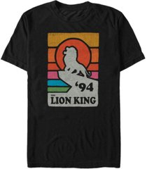 disney men's the lion king pride rock retro line art poster short sleeve t-shirt