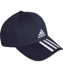 boné adidas baseball sarja 3-stripes - marinho