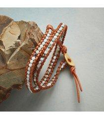 latticed larimar wrap bracelet