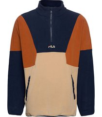 men wafa blocked half zip fleece sweat-shirt trui multi/patroon fila