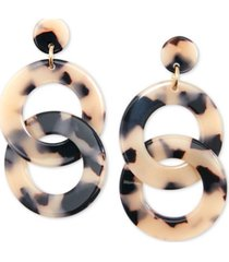 zenzii gold-tone & acetate linked circle drop earrings