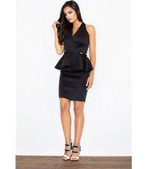 sukienka baskinka m368 czarna