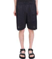 laneus shorts in black cotton