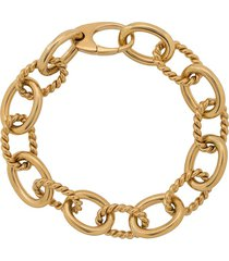 isabel lennse twisted chunky chain bracelet - gold