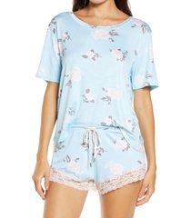 women's honeydew intimates something sweet short pajamas, size medium - purple