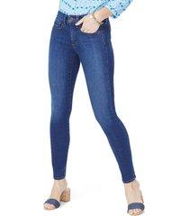women's nydj ami stretch skinny jeans, size 14 - blue