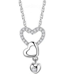 collar corazones amor sin fin casual arany joyas