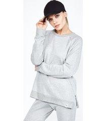 lark pullover - l heather grey
