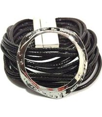 pulseira fios magnólia metal feminino - feminino