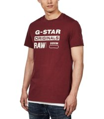 g-star raw men's originals logo t-shirt, created for macy's