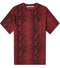 allover snake print t-shirt