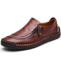 uomo scarpe in pelle con zip da cucito a mano