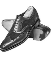 handmade men genuine leather and suede wingtip formal shoes men dress shoes