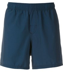 osklen thigh-length swim shorts - blue